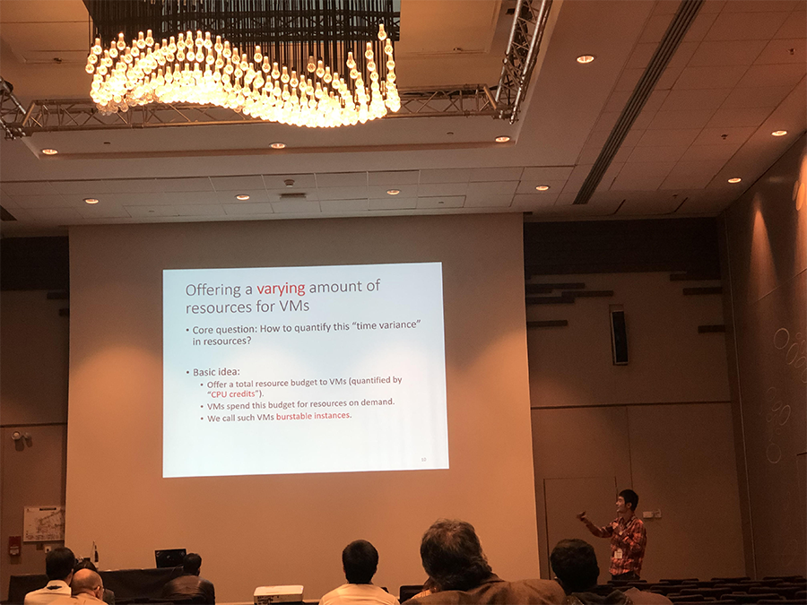 Jiang presents at the IEEE International Conference on Computer Communications.
