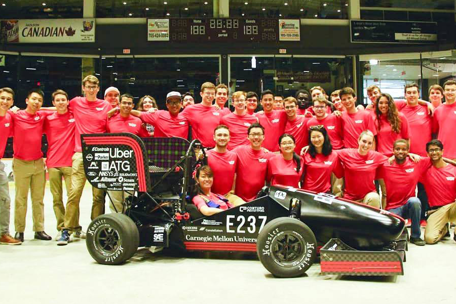 Image of CMU racing team